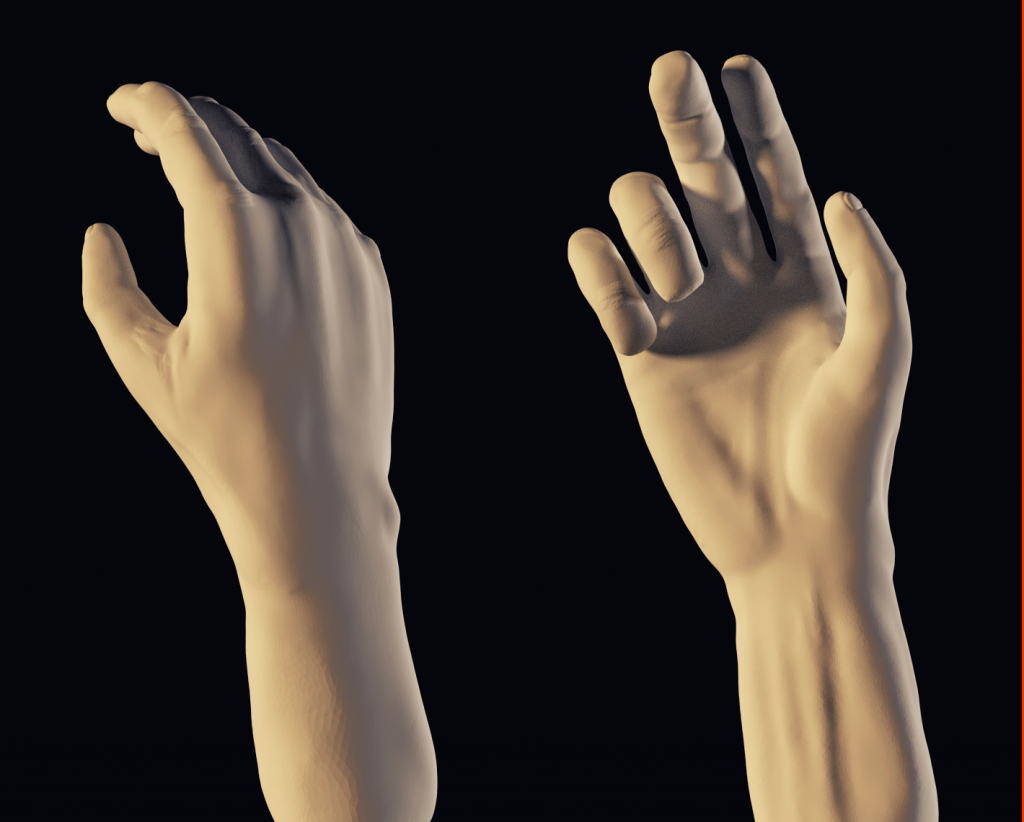 3D Realistic Character Project: Hand Progress