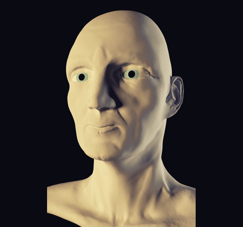 3d Character Project Head Progress This Is The