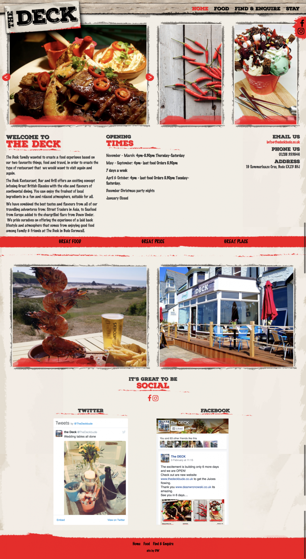 North cornwall website design for the deck in bude this is the north cornwall website design for the deck in bude baanklon Choice Image
